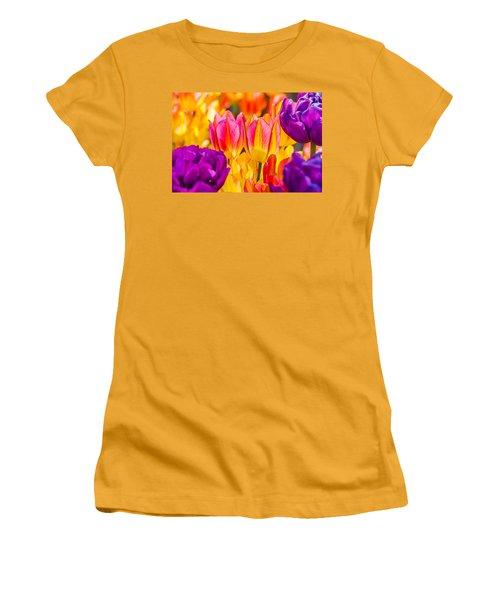 Women's T-Shirt (Junior Cut) featuring the photograph Tulips Enchanting 45 by Alexander Senin