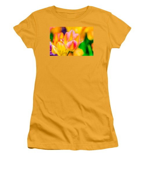 Women's T-Shirt (Junior Cut) featuring the photograph Tulips Enchanting 48 by Alexander Senin
