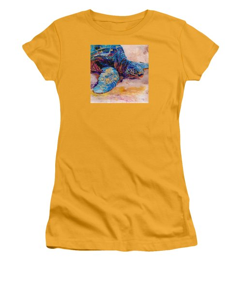 Turtle At Poipu Beach 6 Women's T-Shirt (Junior Cut) by Marionette Taboniar