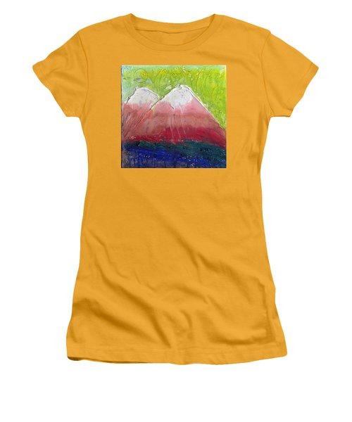 Twin Peaks II Women's T-Shirt (Junior Cut) by Phil Strang