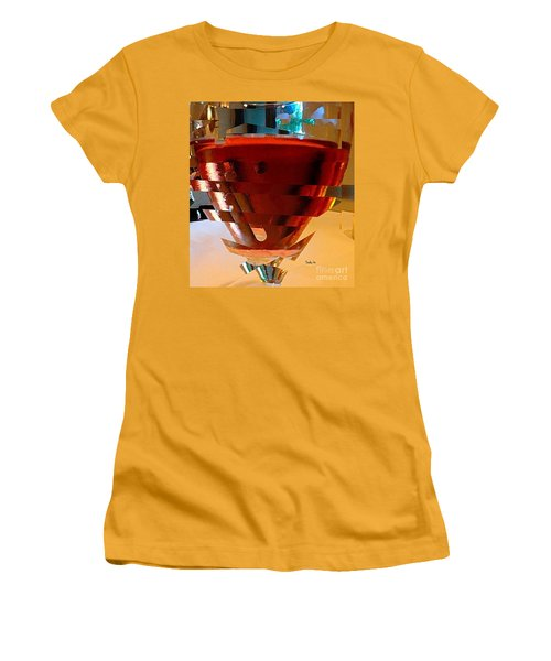 Twisted Wine Glass Women's T-Shirt (Athletic Fit)