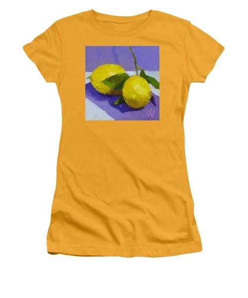 Two Lemons Women's T-Shirt (Junior Cut) by Susan Woodward