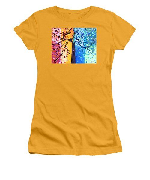 Two Moments Women's T-Shirt (Athletic Fit)