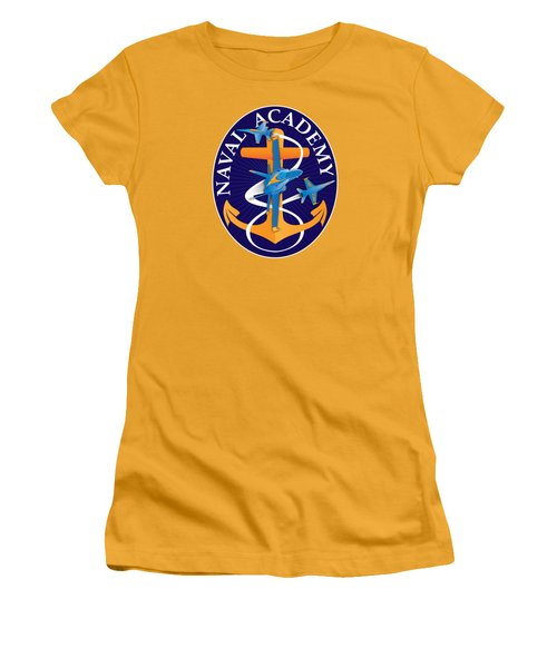 Usna Anchors Aweigh Fouled Anchor Women's T-Shirt (Athletic Fit)