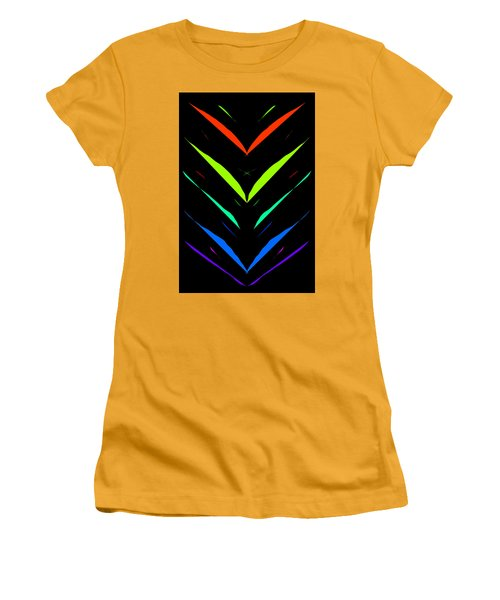 Women's T-Shirt (Athletic Fit) featuring the drawing V - Shape Artwork by Sheila Mcdonald