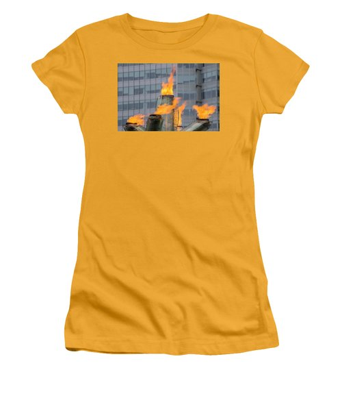 Vancouver Olympic Cauldron 2 Women's T-Shirt (Junior Cut) by Ross G Strachan