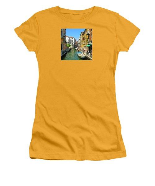 Women's T-Shirt (Athletic Fit) featuring the photograph Venetian Sunshine by Anne Kotan