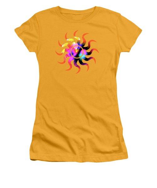 Vibrant Circle On Orange Women's T-Shirt (Athletic Fit)