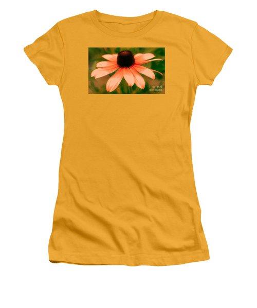 Vibrant Orange Coneflower Women's T-Shirt (Junior Cut) by Judy Palkimas