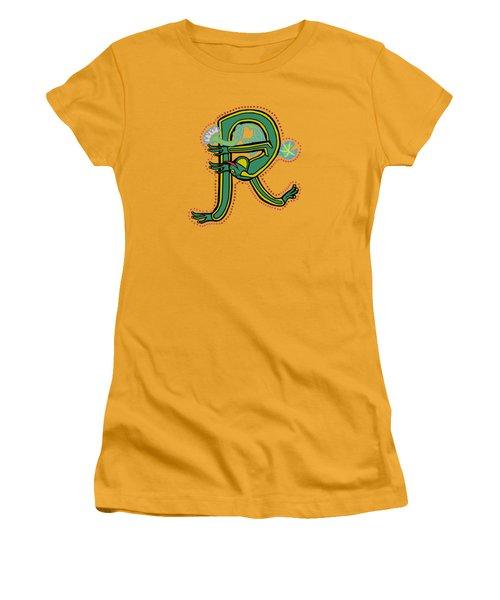 Vintage Letter R Frog Women's T-Shirt (Athletic Fit)