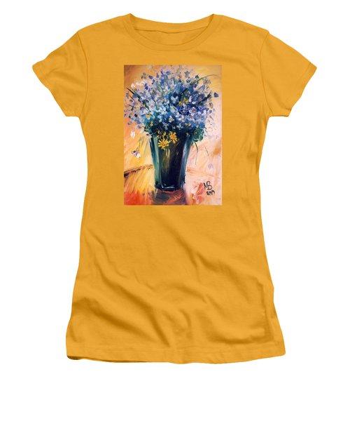 Violets Women's T-Shirt (Junior Cut) by Mikhail Zarovny