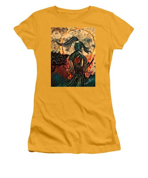 Warrior Moon Women's T-Shirt (Athletic Fit)