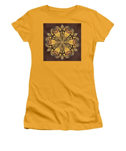 Women's T-Shirt (Athletic Fit) featuring the mixed media Water Glimmer 1 by Derek Gedney