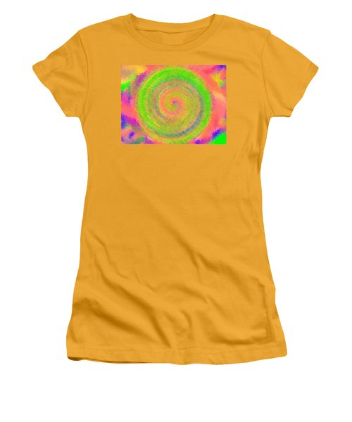 Water Melon Whirls Women's T-Shirt (Junior Cut) by Catherine Lott