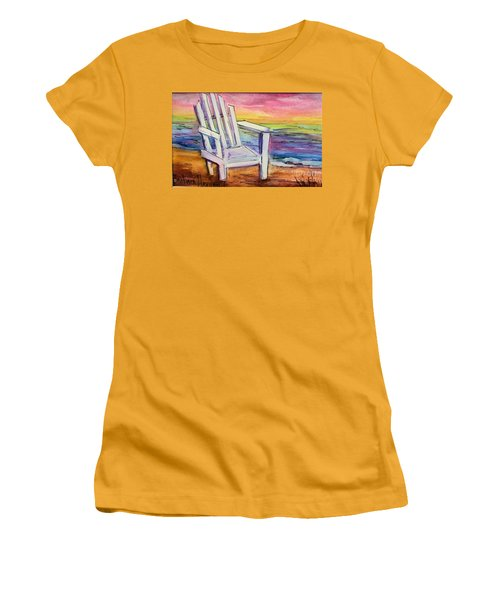 Watercolor White Chair Women's T-Shirt (Athletic Fit)