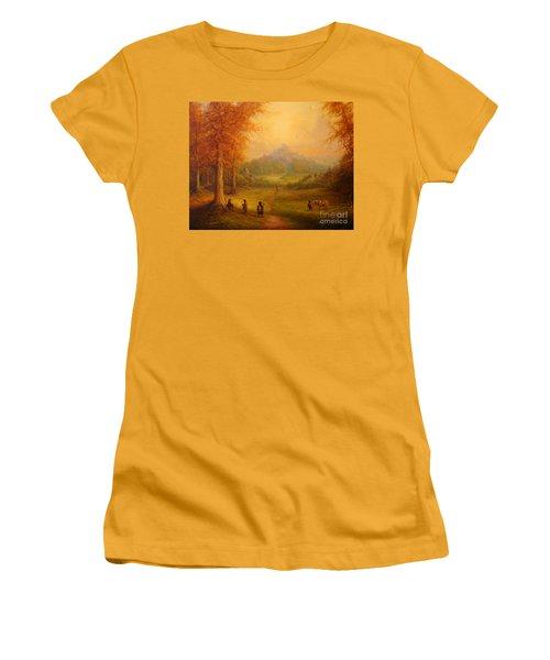 Weathertop Women's T-Shirt (Junior Cut) by Joe  Gilronan