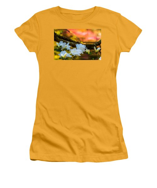 White Azaleas In The Garden Women's T-Shirt (Athletic Fit)