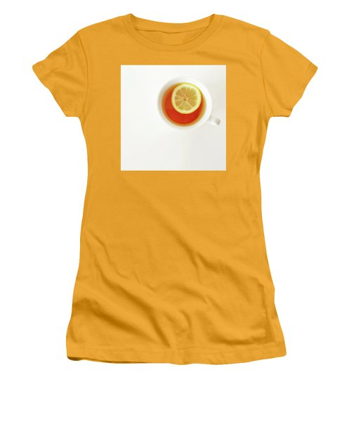 White Cup Of Tea With Lemon Women's T-Shirt (Athletic Fit)