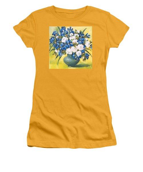 White Roses Women's T-Shirt (Junior Cut) by Alexandra Maria Ethlyn Cheshire