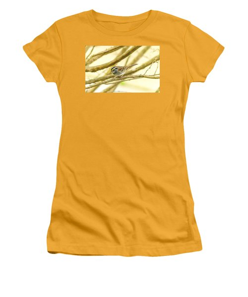 White Throated Sparrow Women's T-Shirt (Athletic Fit)
