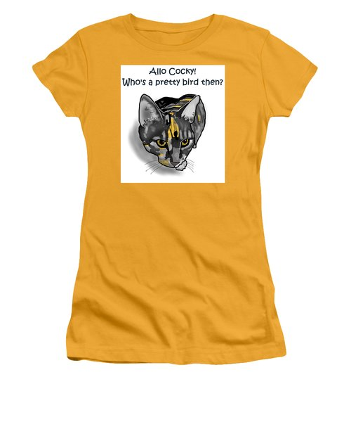 Who's A Pretty Bird Then? Women's T-Shirt (Athletic Fit)