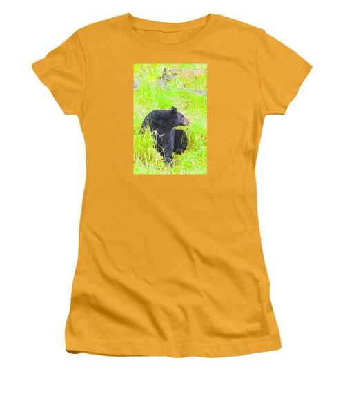 Who's There Women's T-Shirt (Junior Cut) by Harold Piskiel