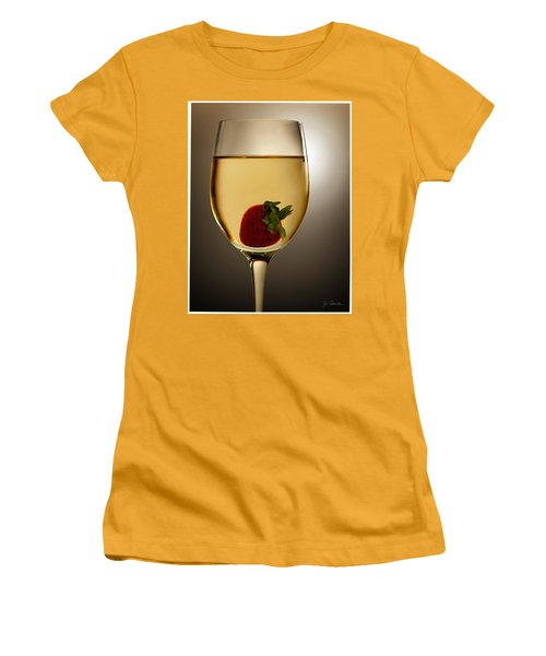 Women's T-Shirt (Junior Cut) featuring the photograph Wild Strawberry by Joe Bonita