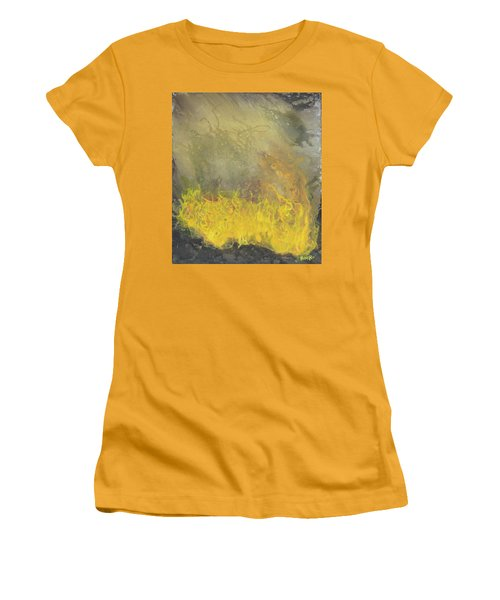 Women's T-Shirt (Junior Cut) featuring the painting Wildfire by Antonio Romero