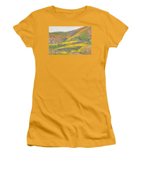 Women's T-Shirt (Junior Cut) featuring the photograph Wildflowers At The Summit by Marc Crumpler