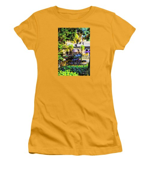 Women's T-Shirt (Junior Cut) featuring the photograph Wine Wagon by Rick Bragan
