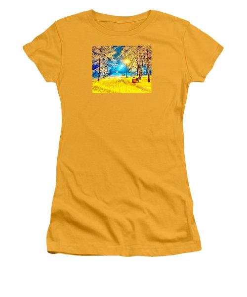 Winter Street Women's T-Shirt (Junior Cut) by Catherine Lott