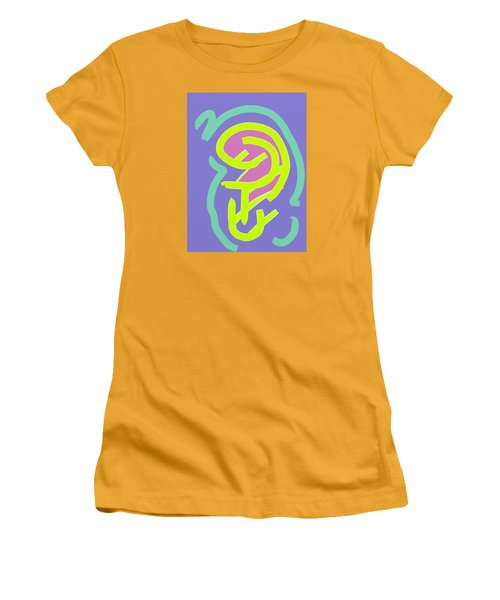 Women's T-Shirt (Junior Cut) featuring the digital art Womb Baby Alive by Carolina Liechtenstein
