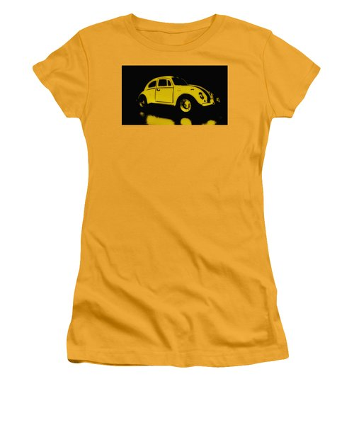 Yellow Bug Women's T-Shirt (Athletic Fit)