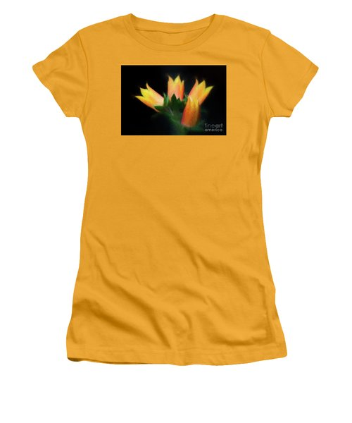 Yellow Cactus Flowers Women's T-Shirt (Junior Cut) by Darleen Stry