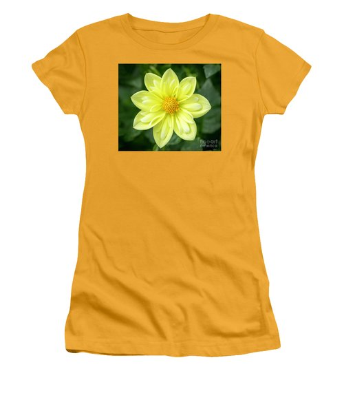 Yellow Dahlia Women's T-Shirt (Athletic Fit)