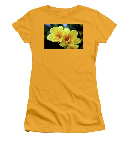 Yellow Daylilly 0204 H_2 Women's T-Shirt (Athletic Fit)