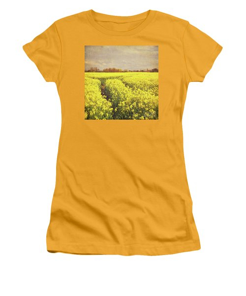 Yellow Field Women's T-Shirt (Junior Cut) by Lyn Randle