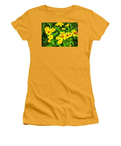Yellow Flowers No. 2 Women's T-Shirt (Athletic Fit)