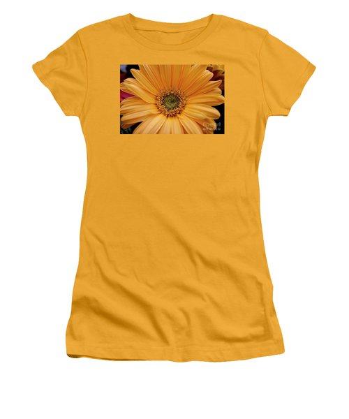 Yellow Gerbera Daisy Women's T-Shirt (Junior Cut) by Ivete Basso Photography
