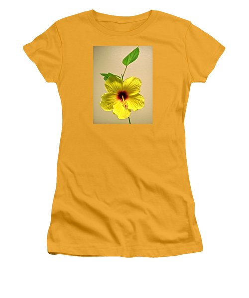 Yellow Hibiscus Women's T-Shirt (Junior Cut) by Stephanie Moore