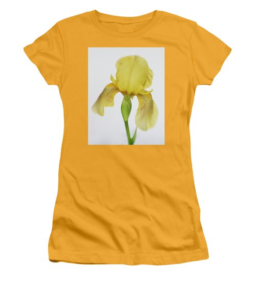 Women's T-Shirt (Junior Cut) featuring the photograph Yellow Iris A Symbol Of Passion by David and Carol Kelly