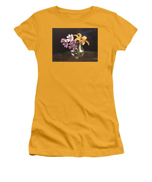 Yellow Lily Women's T-Shirt (Athletic Fit)