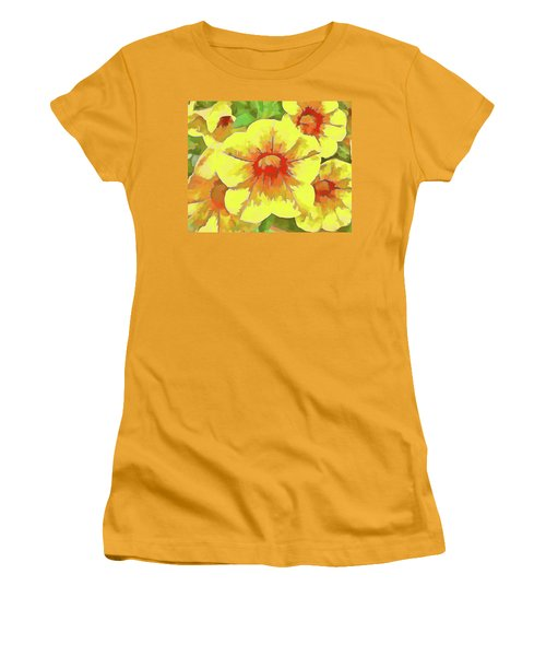 Yellow Million Bells Women's T-Shirt (Athletic Fit)