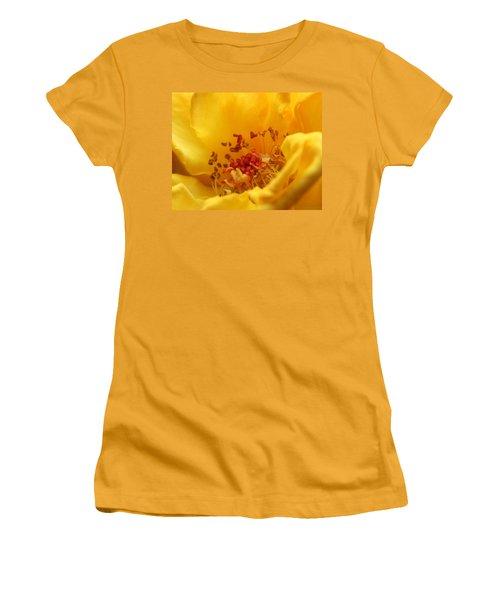 Yellow Mini Macro Women's T-Shirt (Junior Cut) by Marna Edwards Flavell