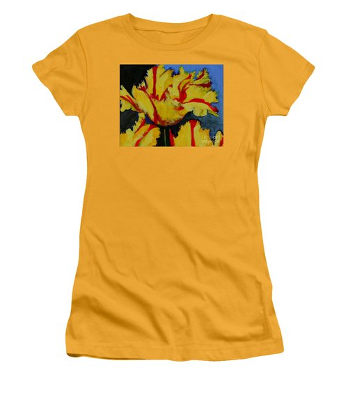 Yellow Parrot Women's T-Shirt (Athletic Fit)