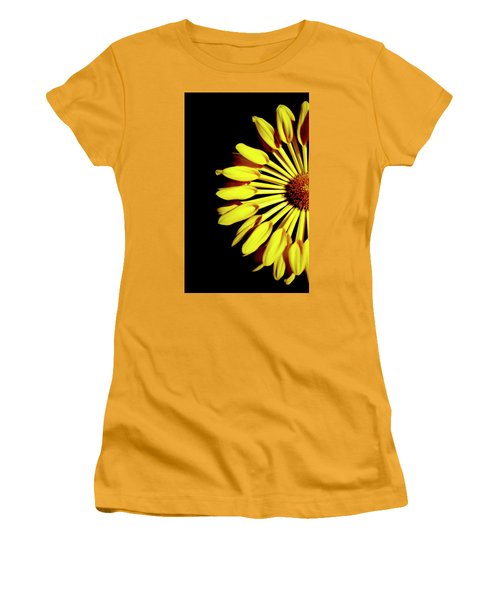 Yellow Petals Women's T-Shirt (Athletic Fit)