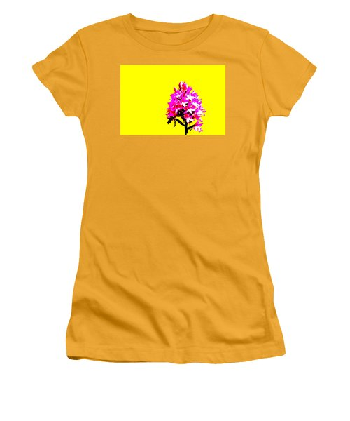 Yellow Pyramid Orchid Women's T-Shirt (Junior Cut) by Richard Patmore
