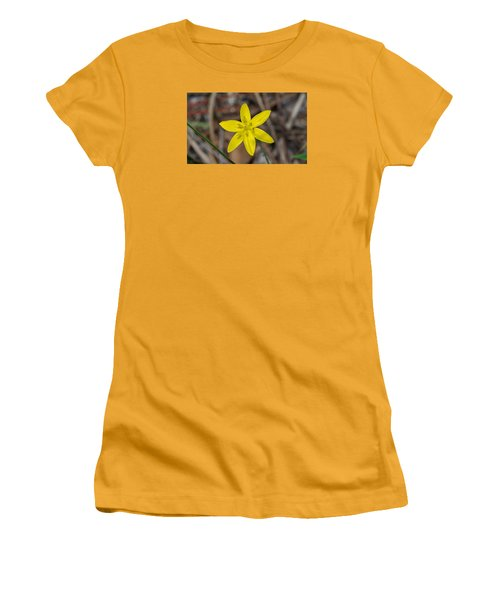 Yellow Star Grass Flower Women's T-Shirt (Athletic Fit)