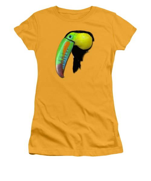 Yellow Toucan Women's T-Shirt (Junior Cut) by Russ Harris