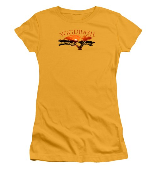Yggdrasil- The World Tree Women's T-Shirt (Athletic Fit)